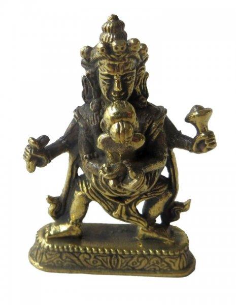 "Esoterik-shop-nature-for-you.de-""Buddha Samantabhadra"" (Yab-Yum) Messing 4,5 cm"