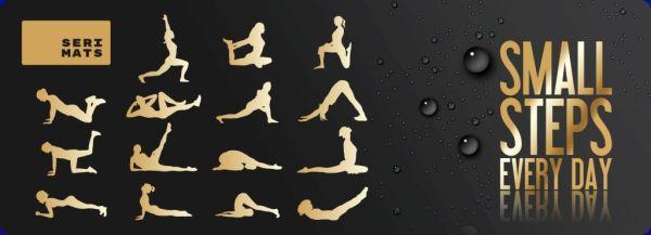 SERI MATS Sportmatte - Yoga Positions